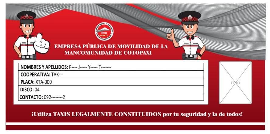 EPMC APLICA LA NORMATIVA LEGAL EN TAXIS DE LA PROVINCIA