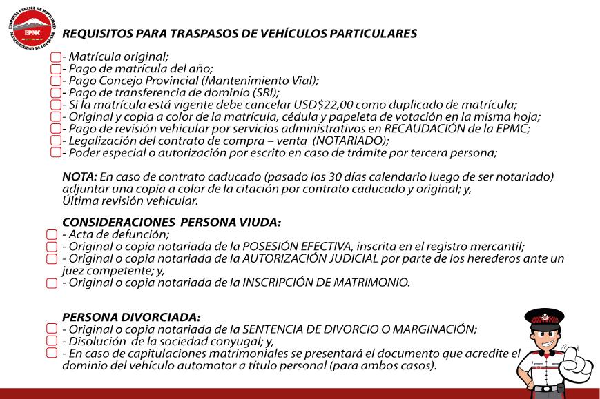 TRASPASOS DE VEHÍCULOS PARTICULARES